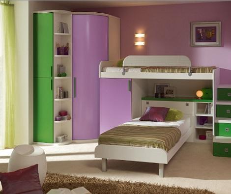 ideas habitaciones juveniles literas chica