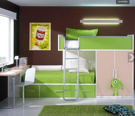 ideas habitaciones juveniles literas