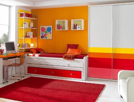 ideas habitaciones juveniles rojo