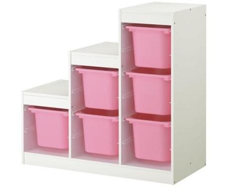 muebles ikea almacenaje ninos rosa