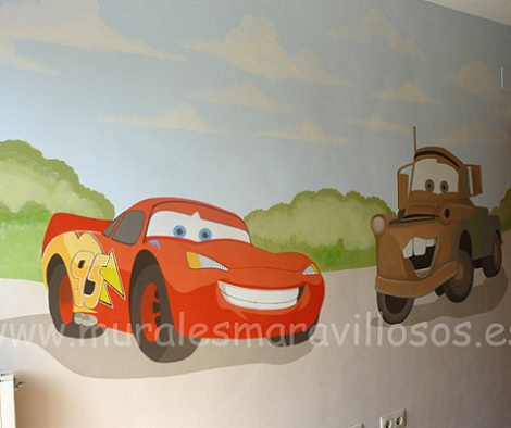 murales infantiles cars