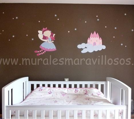 murales infantiles princesa