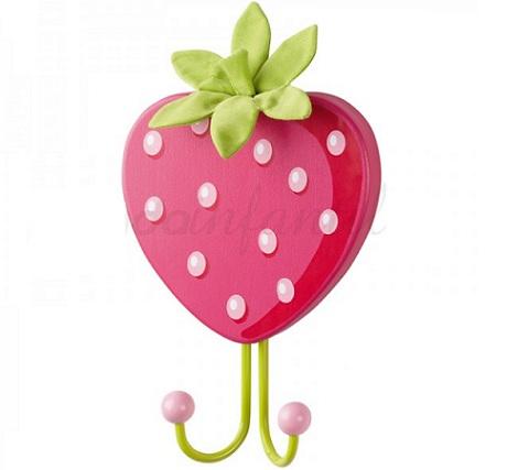 percheros infantiles pared fresa