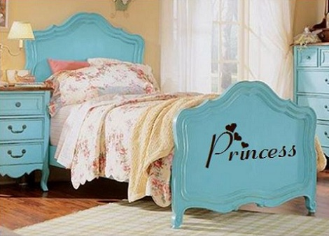 cama de princesa azul