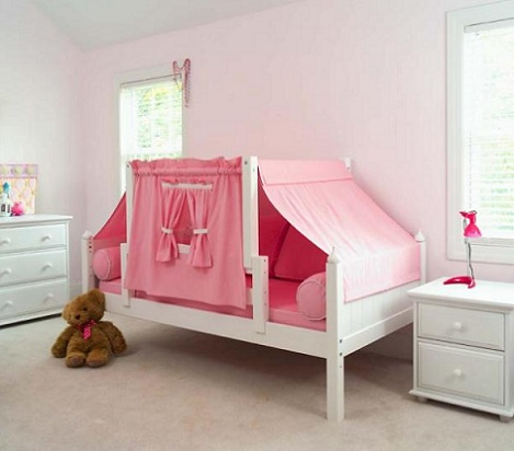 cama de princesa cortinas