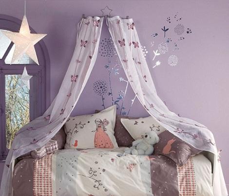 cama de princesa dosel lila