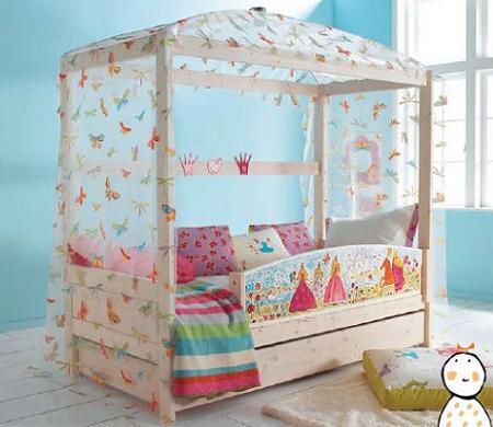 cama de princesa dosel madera