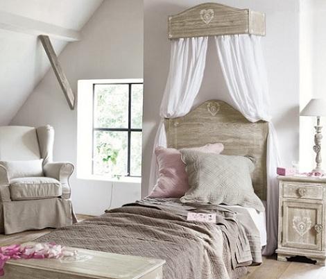 cama dosel nina madera