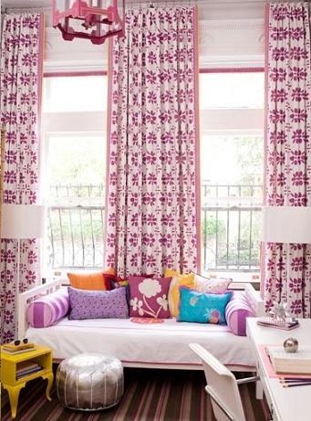 cortinas habitaciones juveniles chica flores