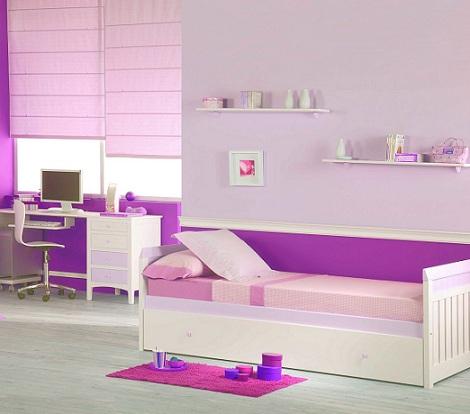 cortinas habitaciones juveniles chica rosas