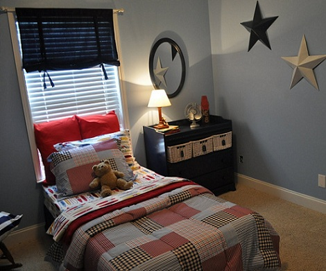 cortinas habitaciones juveniles chico azul