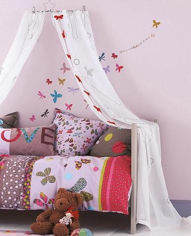 cortinas ninos mariposas