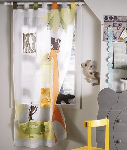 cortinas ninos selva