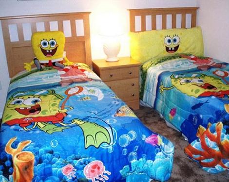 decoracion bob esponja textil
