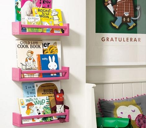 decoracion infantil habitaciones estanteria