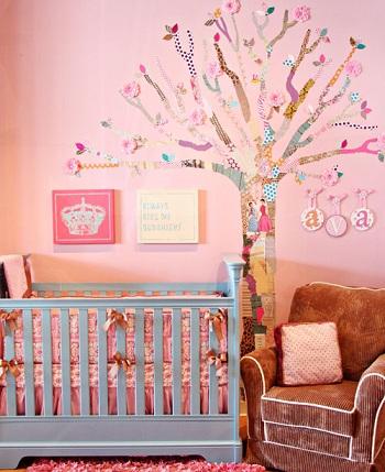 decorar habitacion bebe tu misma arbol