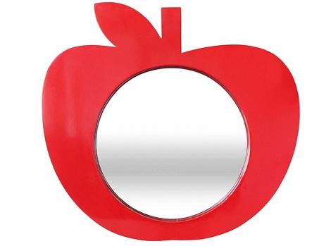 espejos ninos manzana