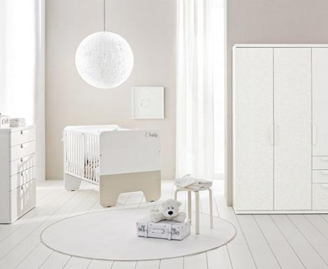 habitacion bebe blanca combinada ocre