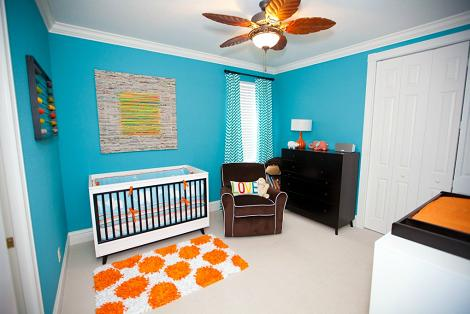 Habitaci n del beb azul for Habitacion bebe moderna