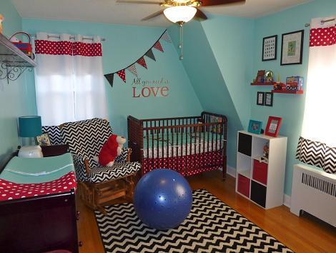 Habitación bebé turquesa