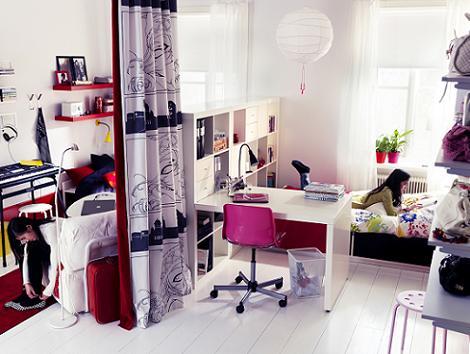Habitación Ikea para chica