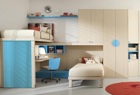 Habitación juvenil práctica