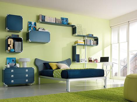 Habitación moderna para jóvenes