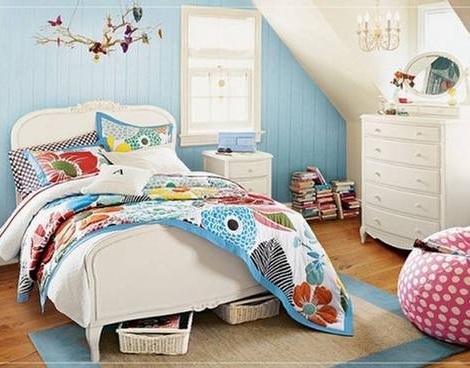 habitaciones juveniles chica azul