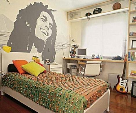 habitaciones juveniles chico literas bob marley