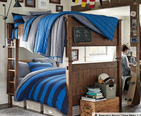 habitaciones juveniles chico literas