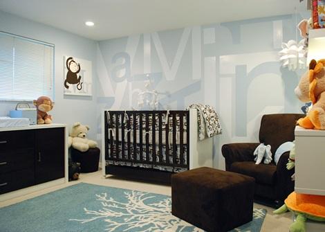 imagenes habitaciones bebe modernas azul