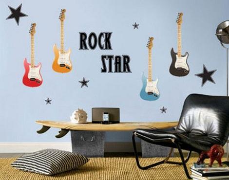 murales juveniles guitarra
