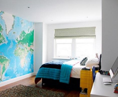 murales juveniles mapa mundi