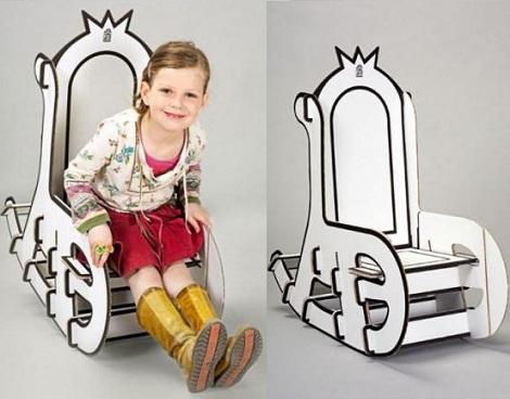 pintar sillas carton blanca