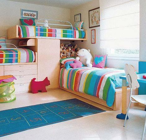 Dormitorio para 3 niños