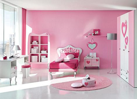 Dormitorio Barbie corazones