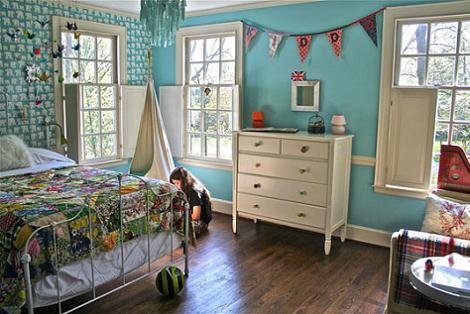 Habitación azul niña