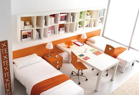 Habitación juvenil compartida