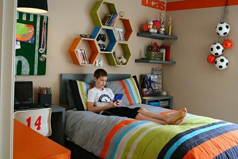 Habitación juvenil deportiva