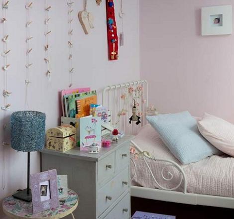 Habitación vintage rosa