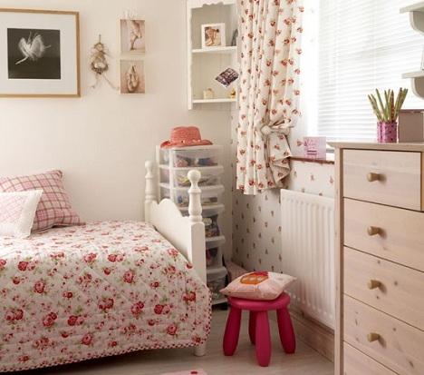 ideas decorar habitacion nina flores