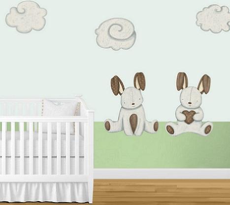 murales habitacion bebe conejos