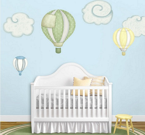 murales habitacion bebe globos