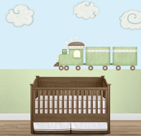 murales habitacion bebe tren