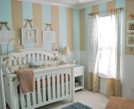 papel habitacion bebe rayas azul