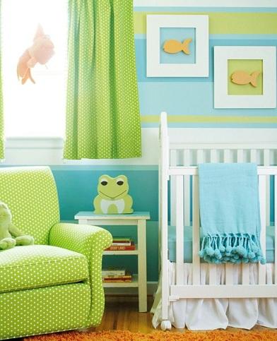 papel habitacion bebe rayas diferentes