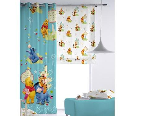 cortinas infantiles disney winnie the pooh