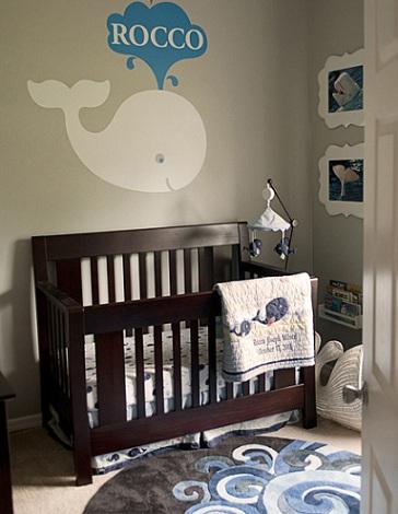 decorar habitación bebé moderna vinilo