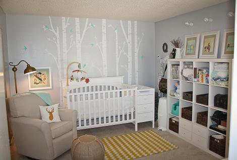Dormitorio blanco de bebé