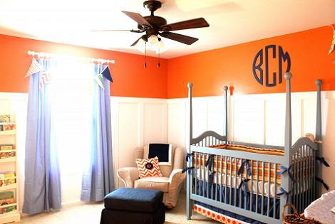 Habitación bebé naranja